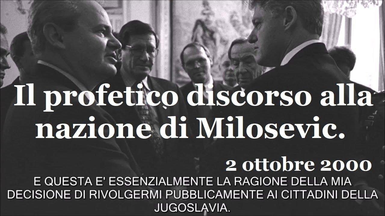 Il profetico discorso alla nazione di Milosevic