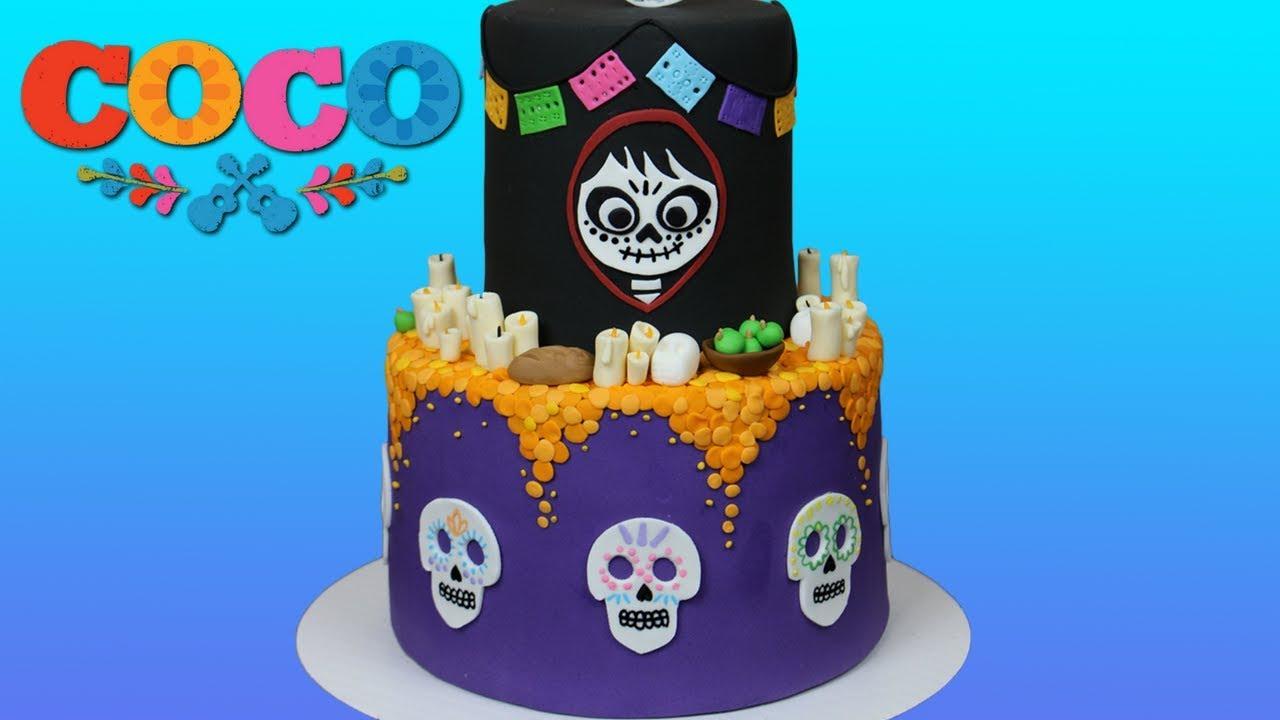 Coco Disneypixar Cake Tutorial Youtube