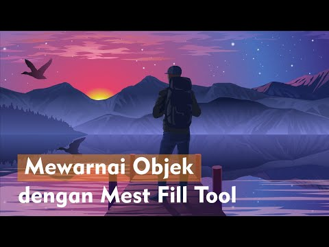 Cara Mewarnai Objek Dengan Mest Fill Tool Di Corel Draw Youtube
