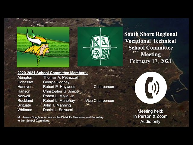 SSVT School Committee; Feb. 17,  2021
