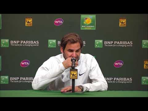 BNP Paribas Open 2018: Roger Federer SF Press Conference