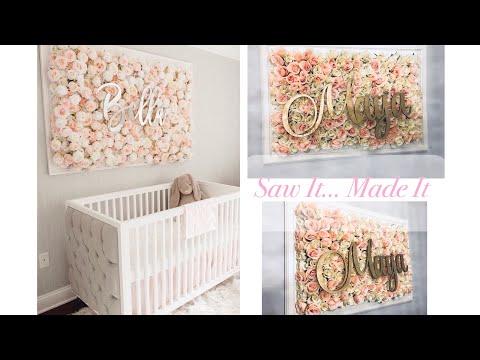 DIY Nursery Flower Wall Picture Tutorial