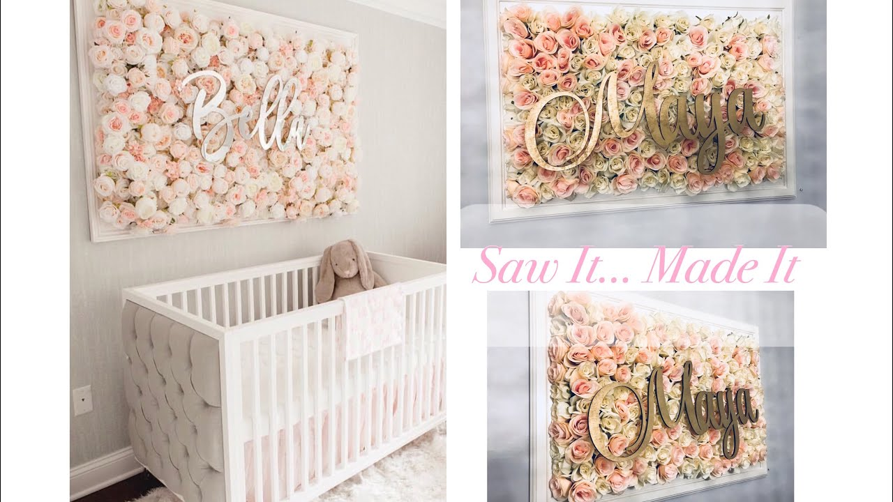 Diy Nursery Flower Wall Picture Tutorial Saw It Made
