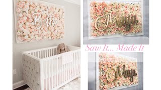 Diy Nursery Flower Wall Picture Tutorial | Saw It Made It