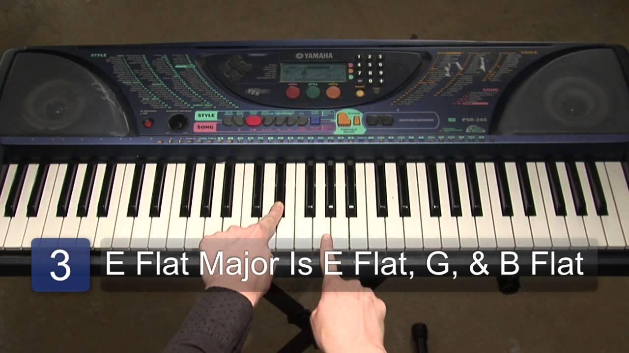E Flat Chord Piano Finding E Flat ...