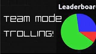 Agar.io : Team Mode is for teams, right?
