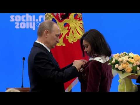Владимир Путин встретился с чемпионами и призёрами ХХII Олимпийских зимних игр 2014 года