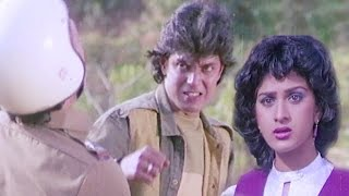 Mithun Rescues Minakshi Seshadri - Aandhi Toofan, Action Scene 3/10