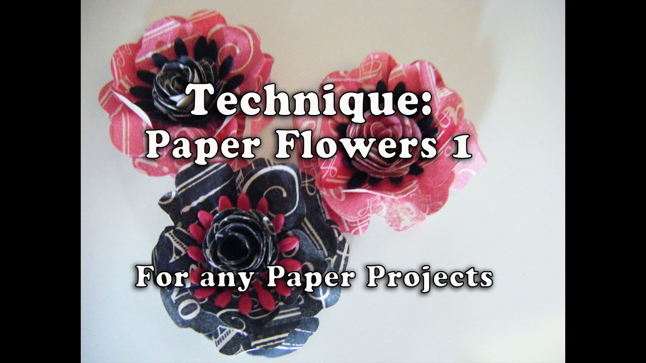 160technique how to make paper flowers style1 for project 161 technique how to make paper flowers style1 for project 161 youtube mightylinksfo