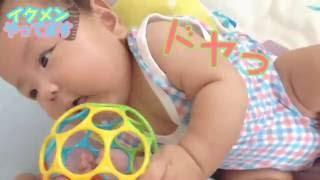 3カ月の愛娘にオーボールを与えたときの反応とその遊び方をまとめまし...
