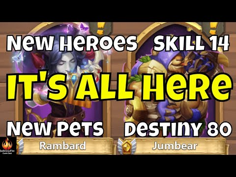 HUGE Castle Clash Update New Hero Skill Levels