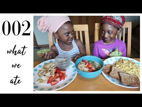 what our 6 vegan kids eat in a day   hearty breakfast   family of 8