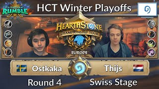 HCT Winter Europe: Ostkaka vs Thijs - Season 3 2018 | Day 1 Swiss Stage Round 4
