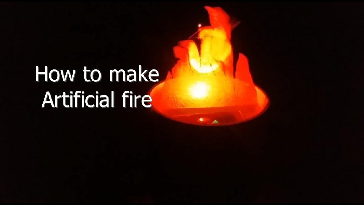 How to make Artificial Fire - YouTube for Artificial Flame Light  186ref