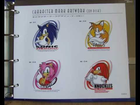 Official Sega Stylebook Sonic The Hedgehog Character
