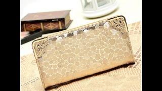 Выгодная покупка! Стильный женский кошелек золотого цвета HANMEI J418. Купить на AliExpress. $5.19(, 2016-07-27T18:56:45.000Z)
