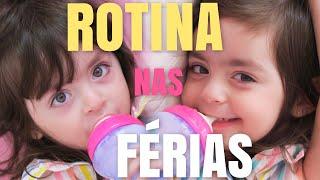 NOSSA ROTINA NAS FÉRIAS - UM DIA TODO COM A GENTE | Jéssica e as Gêmeas