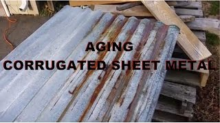 Aging Corrugated Steel