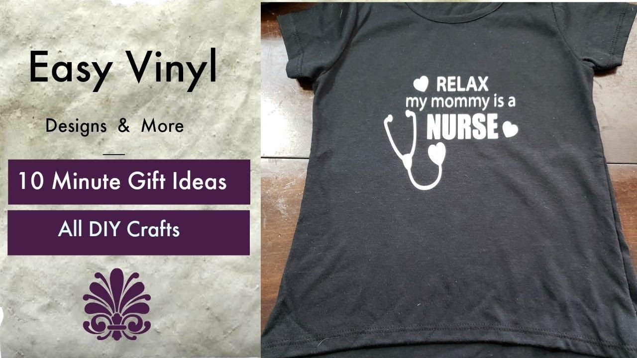 Easy Beginner Cricut Projects Nurse Design Heat Transfer Vinyl On Shirt Youtube