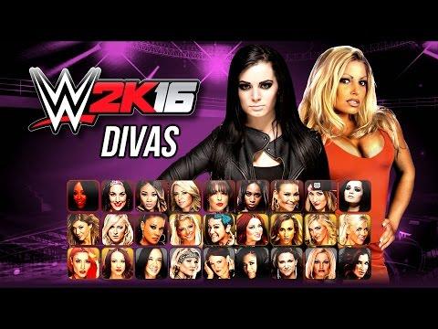 WWE 2K16 Divas Roster - Biggest Ever WWE Roster! (Notion)