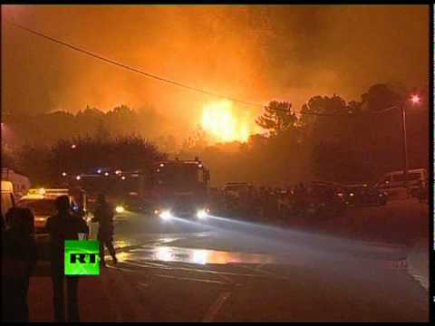 Wildfire War: Video of Portugal firefighters in battle with flames