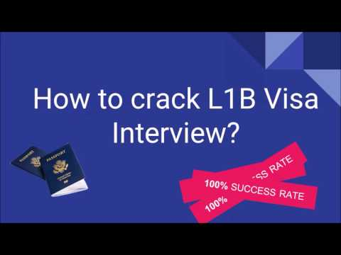 How To Crack L1B Visa Interview ? | L1B Visa Interview Questions With Answers