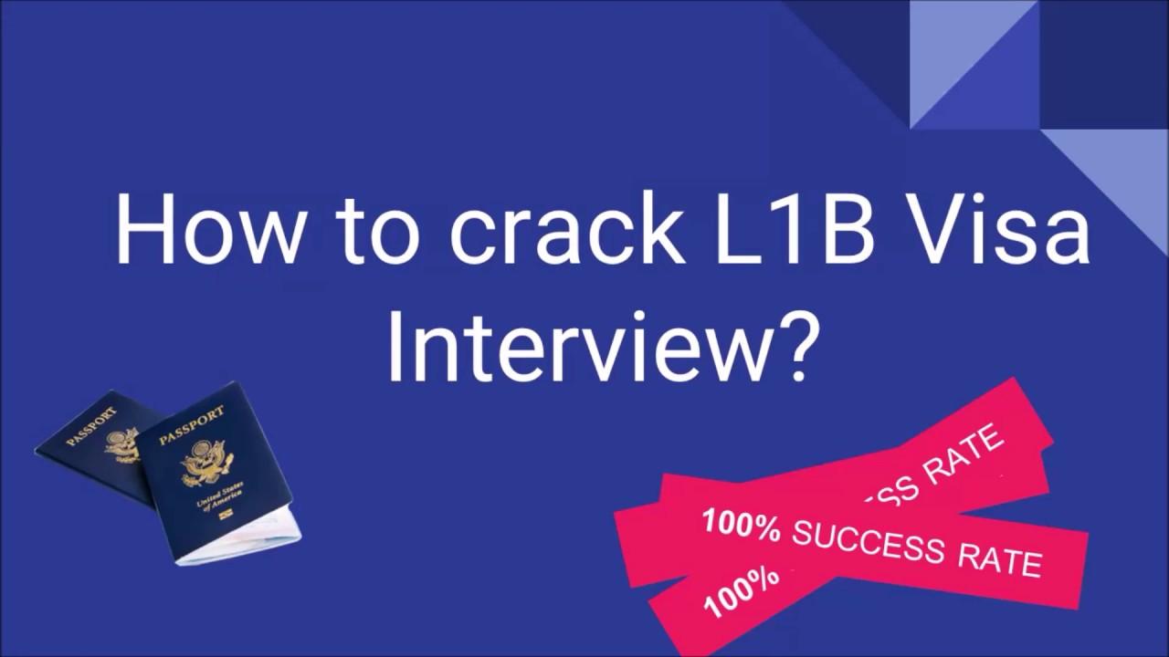 How to Crack L1B Visa interview ? - L1B Visa Interview ...