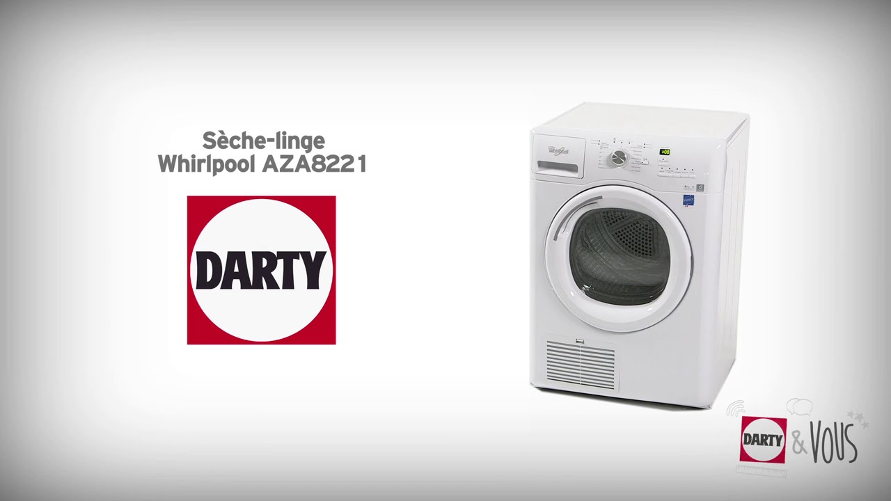 S che linge whirlpool aza8221 d monstration darty youtube - Seche linge condensation darty ...