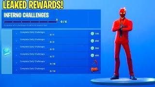 The FREE INFERNO Challenge Pack REWARDS..! (Leaked) Fortnite Battle Royale