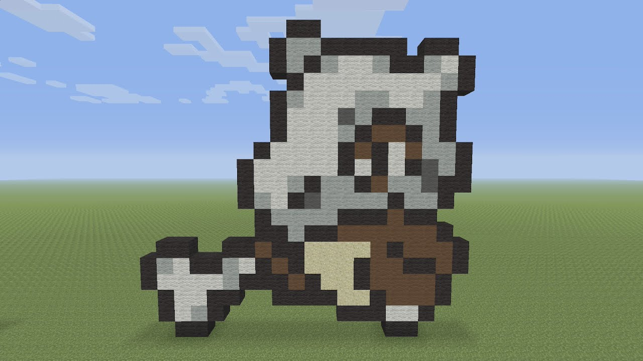 Minecraft Pixel Art Cubone Pokemon 104 Youtube