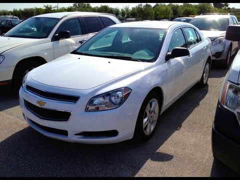 2012 Chevrolet Malibu LS Start Up, Quick Tour, & Rev With Exhaust View - 13K