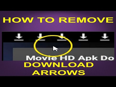 HOW TO REMOVE DOWNLOAD ARROWS~FOR ANDROID 5 AND 6 VERSIONS (JD)...