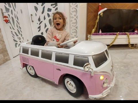Yeni Pembe otobüs biz bunu çok sevdik , eğlenceli çocuk videosu , toys unboxing