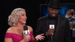 Joelle James & Larrance Dopson (Boo'd Up) Backstage Interview   2019 GRAMMYs