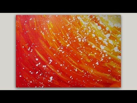 Acrylic Painting Abstract Sun #LoveSummerArt