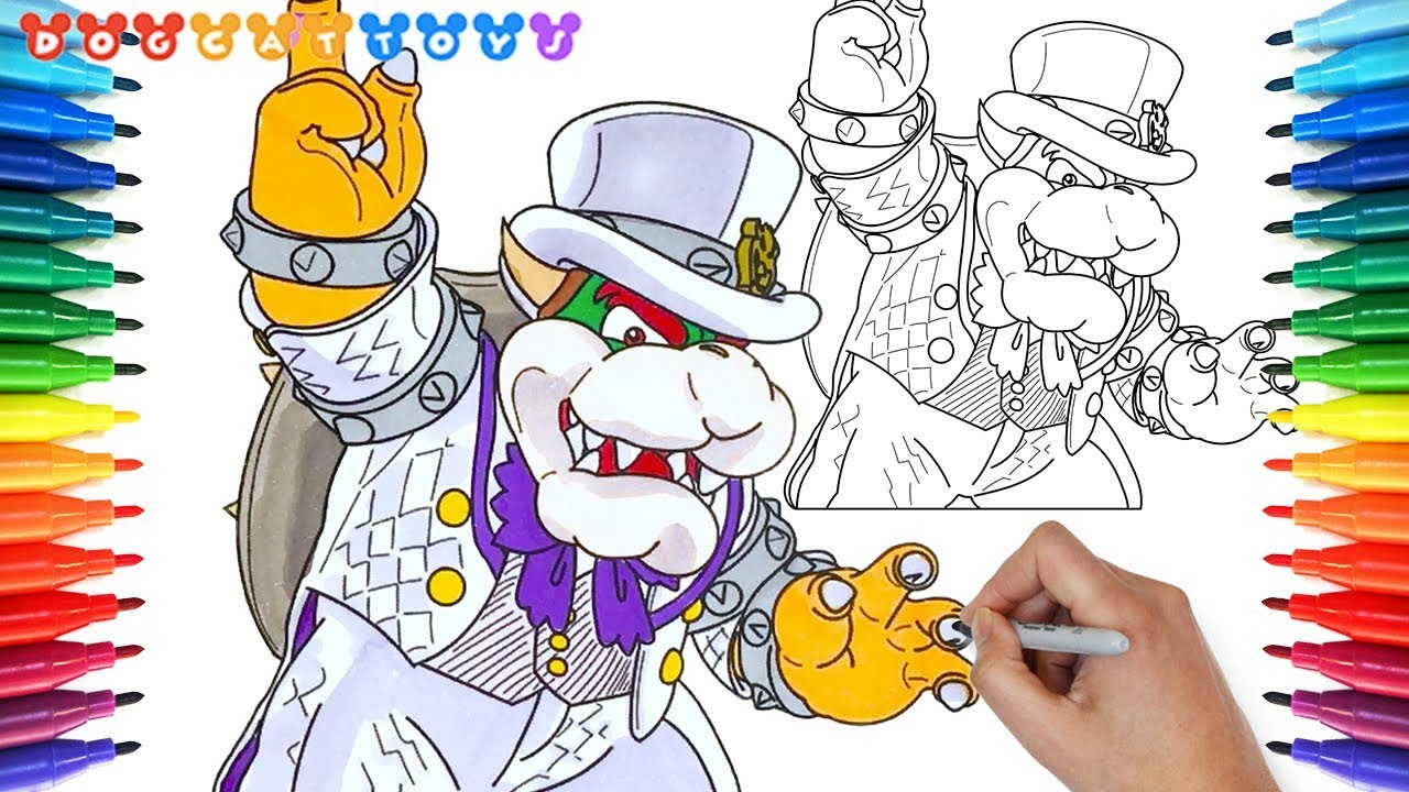 How To Draw Super Mario Odyssey Bowser 148 Drawing Coloring Pages Videos For Kids