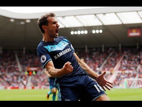 Cuplikan Gol Sunderland 1-2 Middlesbrough Liga Inggris 21 Agustus 2016 - Indobet8