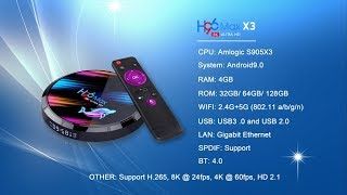 новинка TV Box H96 MAX X3 на процессоре Amlogic S905X3 Unboxing
