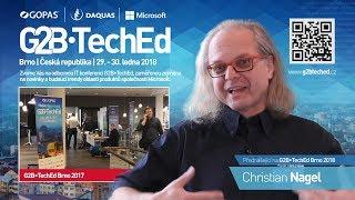 Christian Nagel o konferenci G2B•TechEd 2017