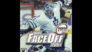 NHL FaceOff 2001 (PlayStation 2) - Dallas Stars vs. New Jersey Devils