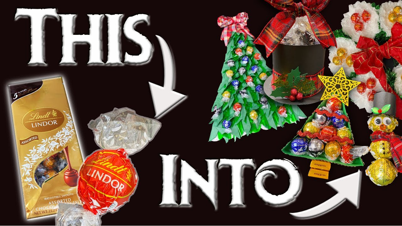 10 Homemade Christmas Gift Ideas For Neighbors Using Lindt Lindor Chocolate Youtube