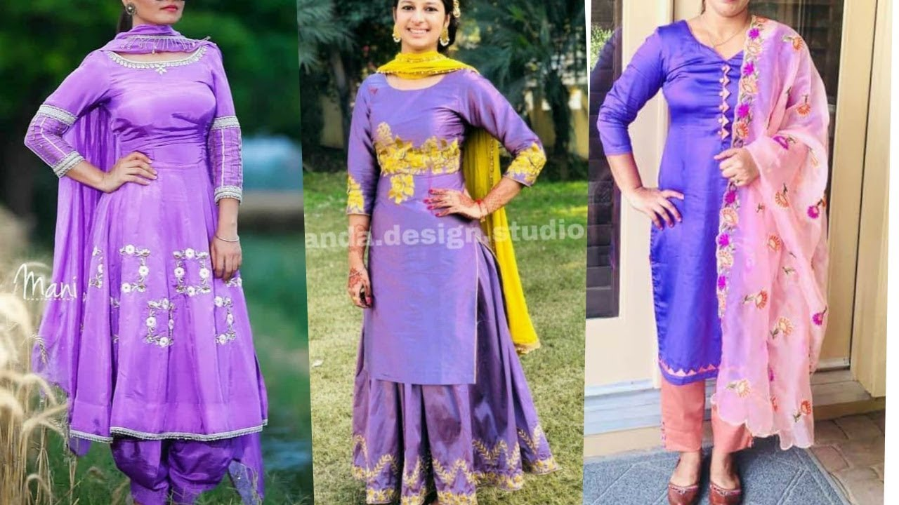Punjabi Suit Design In Purple Colour Ll Contrast Colour Combination With Purple Youtube,Ikea Hack Learning Tower Dimensions