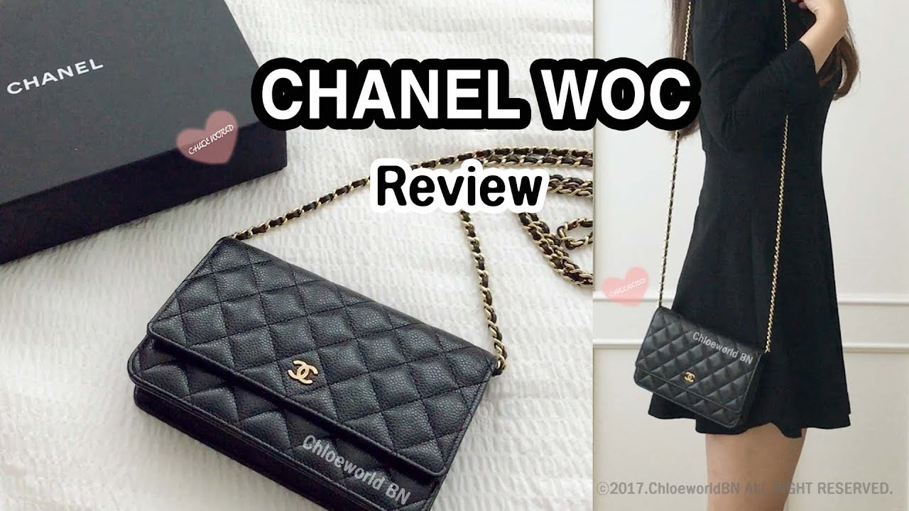 3f2eb354919e CHANEL WOC Review, What Fits Inside?, Pros and Cons - YouTube