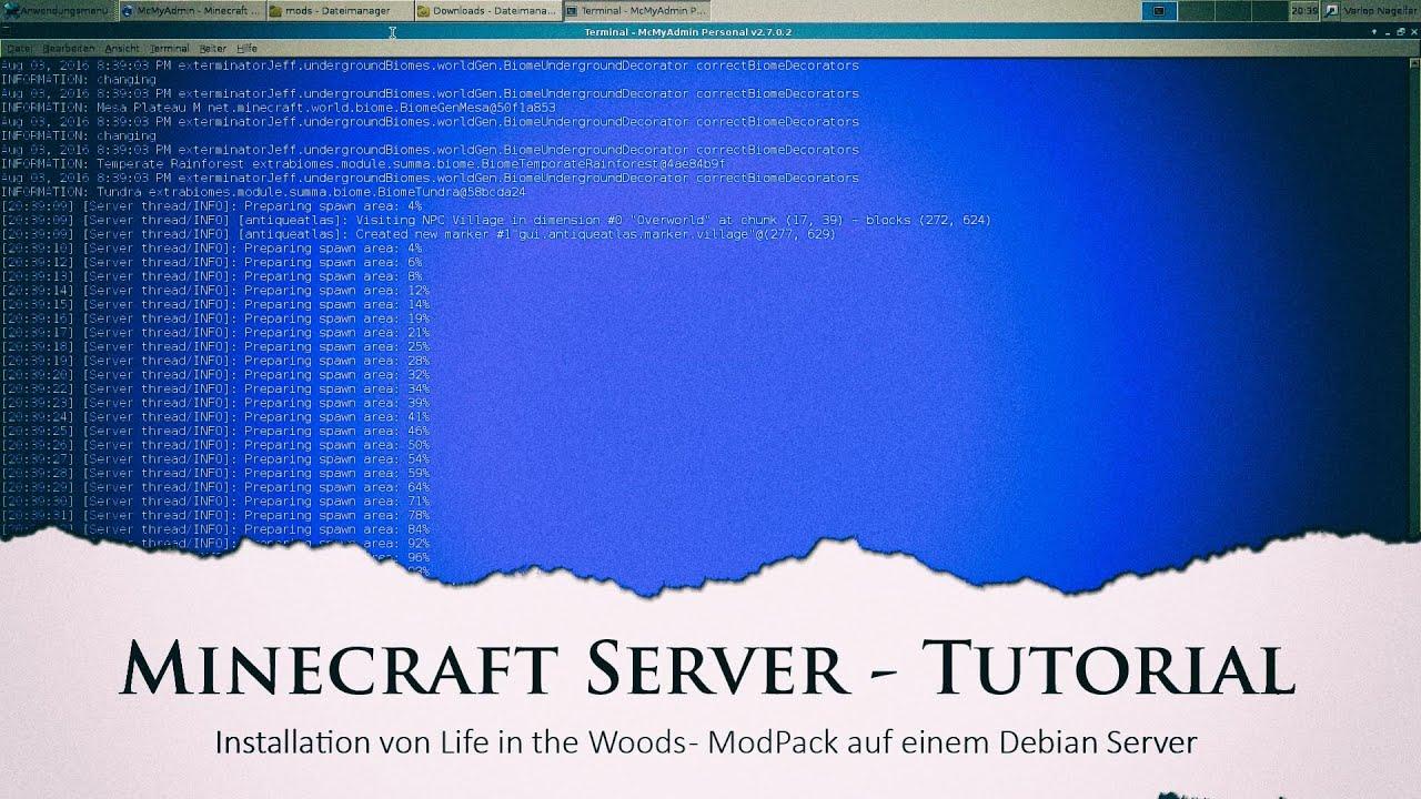 minecraft server auf linux debian installieren