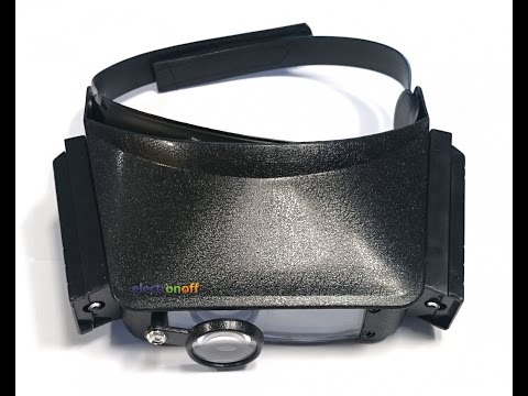 Бинокуляры MG81007. 2 линзы бинокулярные+лупа+подсветка. Видео от Electronoff.