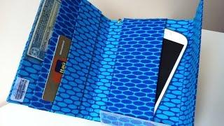 Carteira e Porta Celular feito com caixa de leite