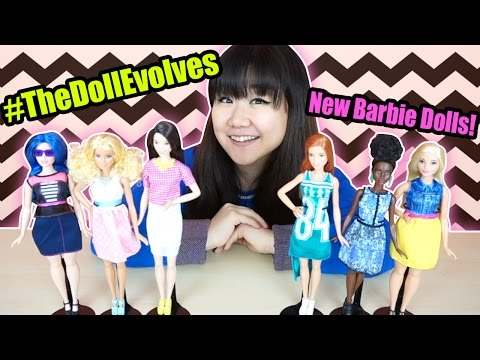 new-fashionista-barbie-dolls---more-body-types-&-diversity---#thedollevolves