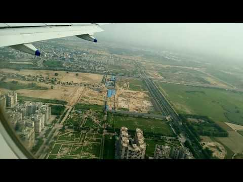 Landing at Indira Gandhi International Airport, New Delhi {amazing view}