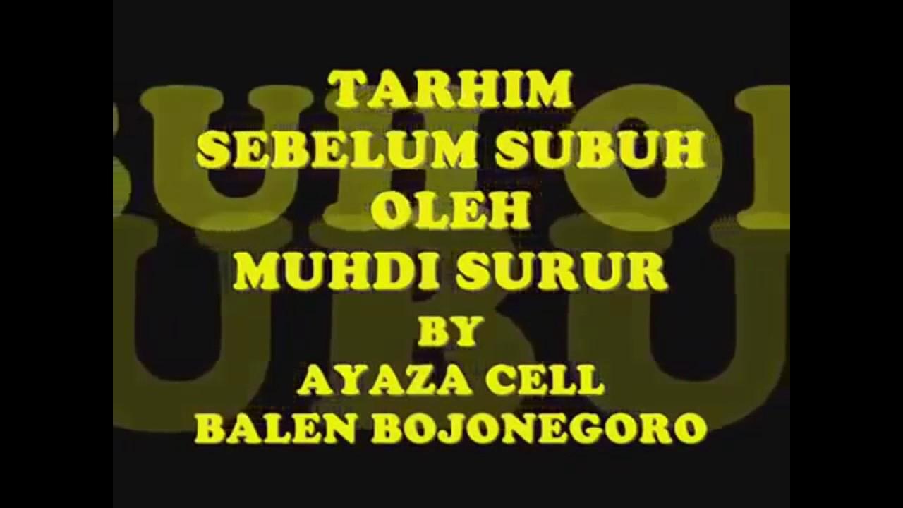 Tarhim Sebelum Adzan Pp Bahrul Ulum Youtube