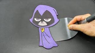 Raven Teen Titans Go PANCAKE - Satisfying Food For Superheroes